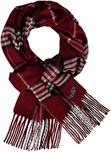 FRAAS Woven Plaid Scarf for Women & Men - Tassel Fringe Plaid Shawl - 30 x 180 cm Unisex Scarf - Vibrant Fashionable Colors in our Classic Tartan