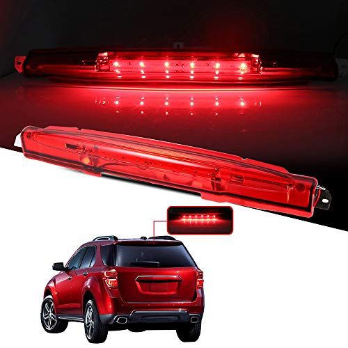 cciyu LED 3rd Brake Lights Cargo Lamp Assembly Automotive Tail Lights Red Lens Replacement fit for 2002-2012 Chevrolet Avalanche Replace 15120540 1228-0126 923-264