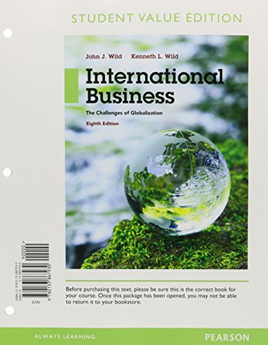 International Business: The Challenges of Globalization, Student Value Edition Plus MyLab Management with Pearson eText -- Access Card Package (8th Edition)