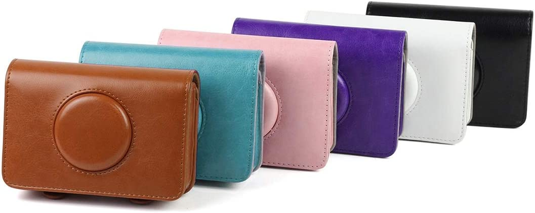 Solid Color PU Leather Case for Polaroid Snap Touch Camera Durable Color : Purple