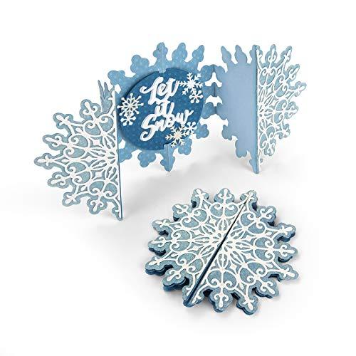 (Sizzix 663175 Thinlits Die Set Card, Snowflake Fold Jen Long (5-Pack), Multicolor )