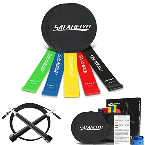 Salaheiyo Resistance Loop Band Set of 5 and Core Sliders Gli