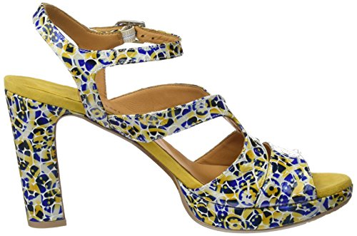 Audley 19719, Sandalias con Plataforma Para Mujer, Amarillo(Yellow), 41 EU