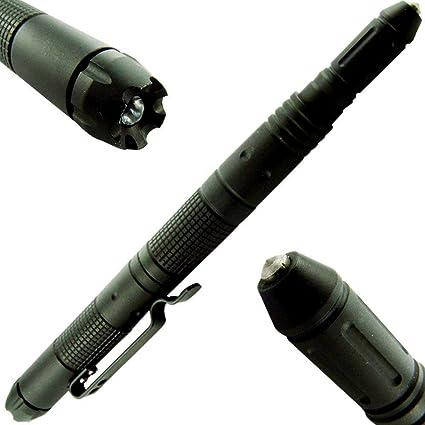 Tactical Pen Flashlight Camping Survival Emergency Glass Breaker Defender Combat