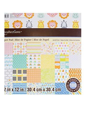 Baby Paper Pad 180 Sheets by Recollections 12 x 12 ()