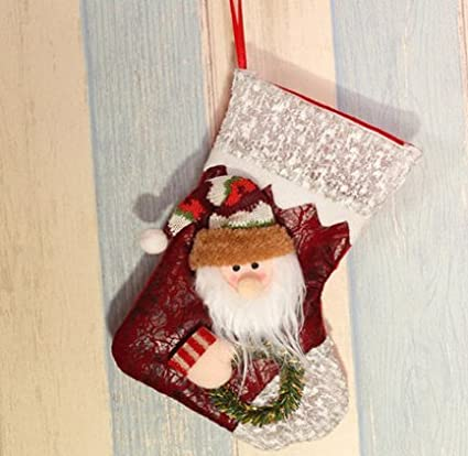 3 pieces christmas socks decorations christmas socks gift bags christmas socks christmas window decorations 04 - Christmas Window Decorations Amazon