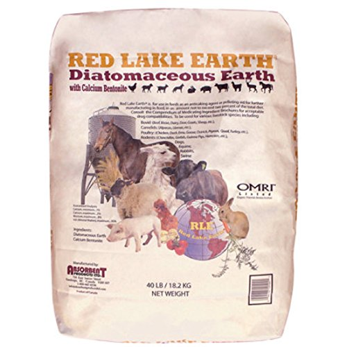 RED LAKE EARTH Anti-caking Agent Feed Mixture for Farm Animals - Formulated from Organic Fresh Water Deposits and Earth Minerals (Calcium Bentonite) - 40 LB