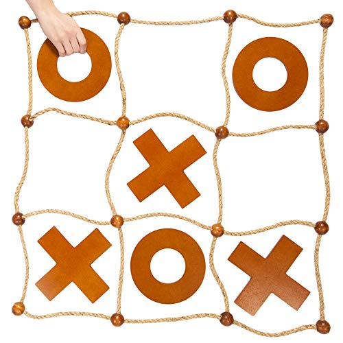 - Giant Tic Tac Toss Yard Game   Premium Wooden Tic Tac Toe Game, Large Indoor Outdoor Activity   Backyard Games, Family Games, & Tailgating Parties   Wooden Board Game/Lawn Games for Adults & Kids