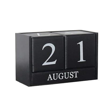 amazon com kingzhuo creative wooden calendar perpetual desktop