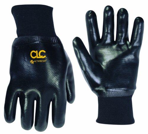 (CLC Custom Leathercraft 2080L PVC Gloves with Knit Wrist, Large)