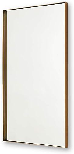 Better Bevel 24 x 36 Antique Brass Metal Framed Rectangle Mirror