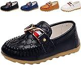 DADAWEN Boy's Girl's Slip-On School Uniform Dress Shoe (Toddler/Little Kid) Black US Size 10.5 M Little Kid