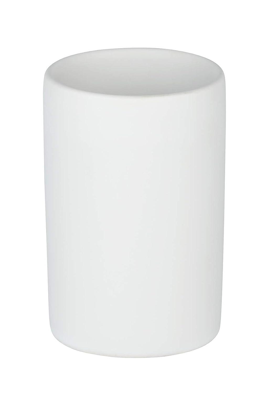 Wenko 24010100-Vaso de Dientes cer/ámica Blanco 7 x 11 x 7 cm