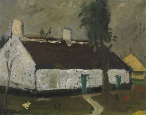 Gone With The Wind Costumes For Sale - The Perfect Effect Canvas Of Oil Painting 'Gustave De Smet - White Farm House' ,size: 24x30 Inch / 61x77 Cm ,this Replica Art DecorativePrints On Canvas Is Fit For Basement Artwork And Home Artwork And Gifts