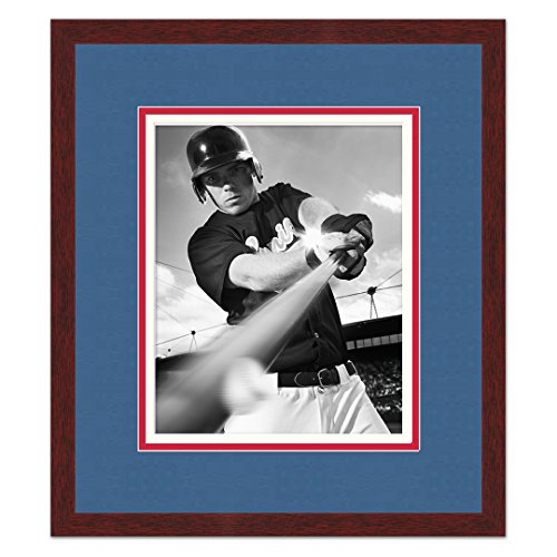 (Texas Rangers Brown Wood Photo Frame Made to Display 16x20 Photos)