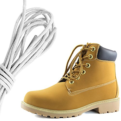 Zapato Con Cordones De Tobillo Para Mujer, Con Cordones, Para Trabajo Diario, Con Botines De Punta Dura, Marfil Negro Pu De DailyZapatos