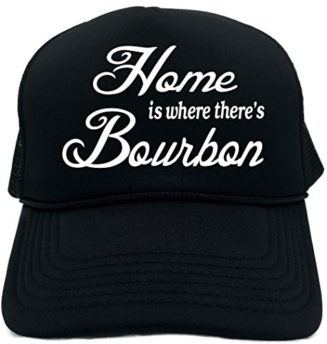Signature Depot Funny Trucker Hat (Home is where there's Bourbon) Unisex Adult Foam Cap