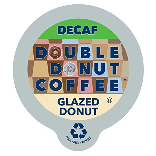 Double Donut Coffee Decaf Glazed Donut Flavored Coffee Single Serve Cups For Keurig K Cup Brewer