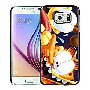New Unique Custom Designed Case With garfield crazy Black For Samsung Galaxy S6 Phone Case