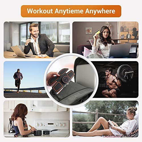 Abs Stimulator Muscle Toner, Muscle Trainer, Abdominal Toning Belt Ultimate Abs Stimulator for Men Women, Rechargeable Stimulator Abdominal Muscle Toner with 6 Modes & 9 Levels Operation 5