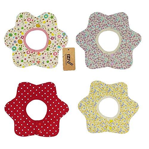 iZiv(TM) Baberos del Bebé - Paquete de 4 Diseños con 4 Capas Impermeables para niño 0-3 años (Color-8) Color-3