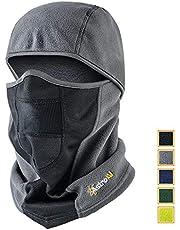 AstroAI Ski Mask Winter Balaclava Windproof Breathable Face Mask for Cold Weather (Superfine Polar Fleece, Gray)