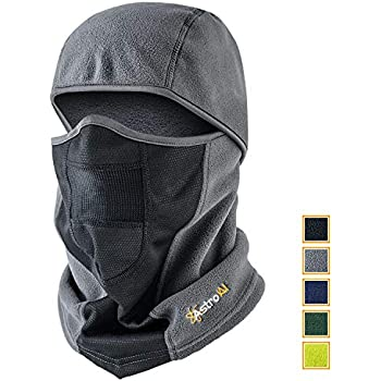 AstroAI Ski Mask Cold Protection Balaclava Windproof Breathable Face Mask for Winter (Superfine Polar Fleece, Gray)