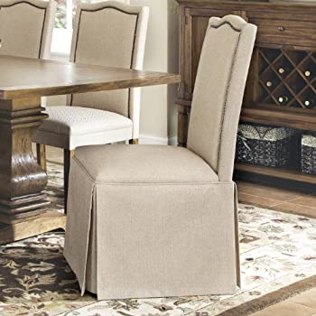 Amazon.com - Coaster 103713 Parkins Tan Parson Dining Chair With ...