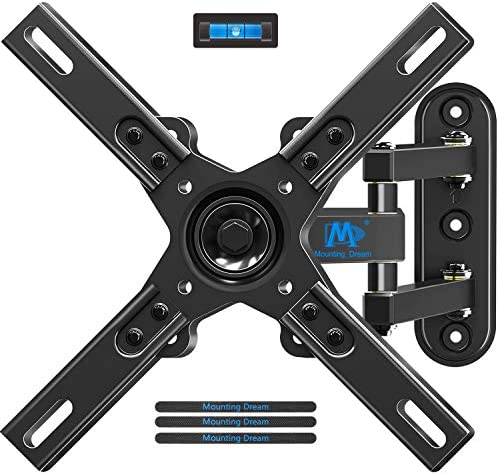 Mounting Dream Full Motion TV Wall Mounts TV Bracket with Articulating Arms for Most 17-39 Inches LED, LCD TV, TV Mount up to VESA 200x200mm and 33 lbs, Monitor Mount with Tilt and Swivel MD2462