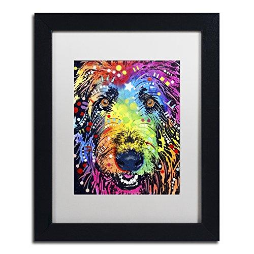 Irish Wolfhound by Dean Russo, White Matte, Black Frame 11x14-Inch