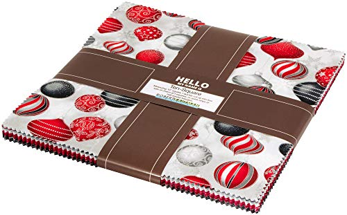 - Winter's Grandeur 7 Scarlet Ten Square 42 10-inch Squares Layer Cake Robert Kaufman TEN-681-42