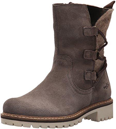 Co Waterproof Suede Boot - Bos. & Co. Women's Cascade Ankle Boot, Grey Suede/Boil Wool, 37 M EU (6.5-7 US)