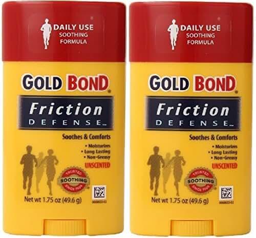 Gold Bond Friction Defense Stick Unscented 1.75 oz ( Pack of 2)