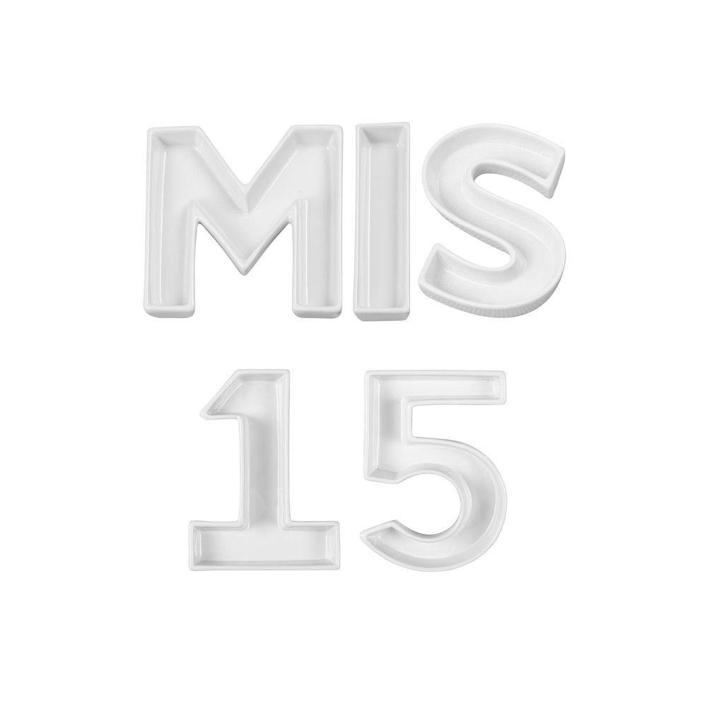 Ivy Lane Design Mis 15 Word Dishes, White