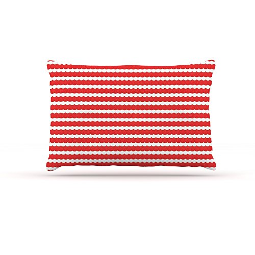 30 by 40\ Kess InHouse Heidi Jennings Feeling Festive  Red White Fleece Dog Bed, 30 by 40