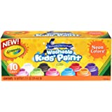 Crayola Washable Kid's Neon Paint Set, 2-Ounce