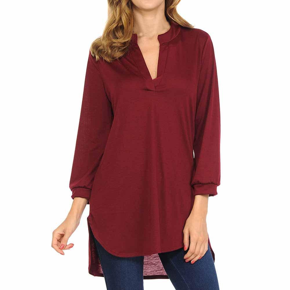 398dec51824e OrchidAmor Women Fashion Summer V-Neck Cotton Fashion Tops Shirt Blouse at  Amazon Women's Clothing store: