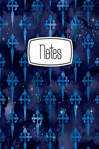 Notes: Gothic Blue Cross Print 120 Blank Lined Page Softcover Notes Journal, College Ruled Composition Notebook, 6x9 Blank Line Design Cover Note Book]()