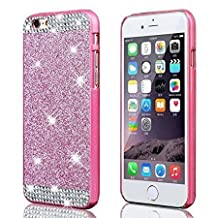 For Apple iPhone 5C Case,Vandot Accessory Set Exclusive Luxury Diamond Bling Glitter PC Hard Back Cover,Ultra Slim Thin Anti-Scratch Crystal Rhinestone Protective Pattern-Rose Red