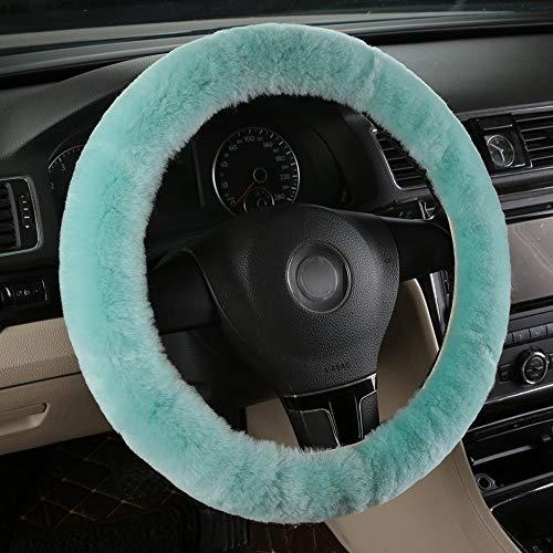 - MLOVESIE Universal Genuine Wool Sheepskin Univeral Car Vehicle Steering Wheel Cover Car Wheel Cushion Protector Available for 35cm-48cm Steering Wheel in Diameter