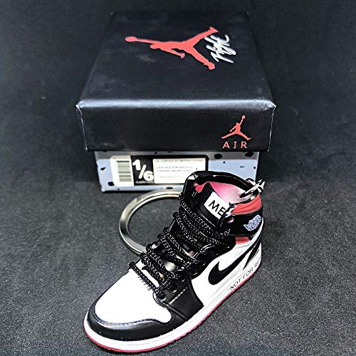 Air Jordan 1 I High Retro NRG Not For Resale Red OG Sneakers Shoes 3D Keychain Figure With Shoe Box