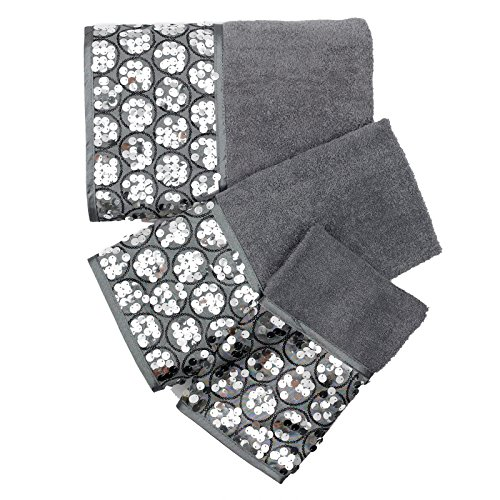 Bath Towels, Sinatra Collection, 3-Piece Set, Silver