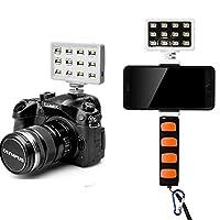 LED Video Light Commlite CM-PL12B II High CRI>95 Super bright Portable Multi-functional Mini Video Light for Smartphone Iphone 6,6S,7,7 Plus,Huawei,Samsung, Canon camera