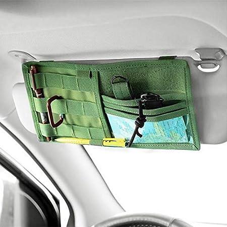HWZ Tactical Multifunction Car Sun Visor Storage Bag Auto Glasses Ticket Documents Folder Mobile Phone Organizer
