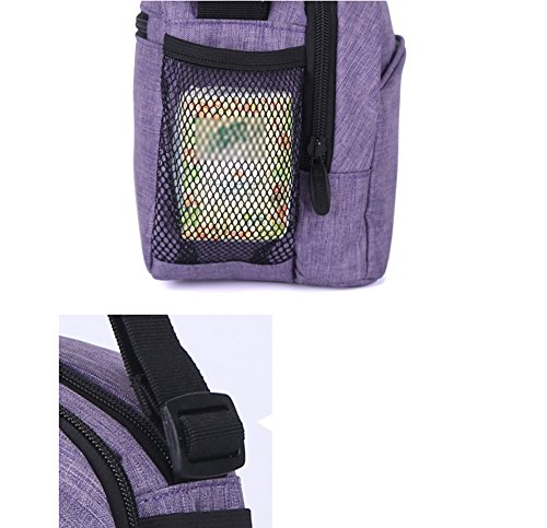 Bolso de la momia, hombro multi-funcional Bolso de la momia pequeño, bolso pequeño, bolso impermeable del bebé del bebé ( Color : Purple ) Gris
