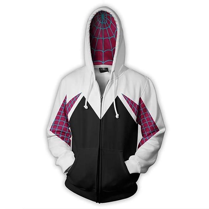Spider-Gwen Hoodies , Gwendolyn Maxine Stacy-3D Gwen Stacy Disfraz Cosplay Sudaderas con