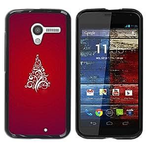 Paccase / SLIM PC / Aliminium Casa Carcasa Funda Case Cover para - Christmas Tree Red White Stylish Purple - Motorola Moto X 1 1st GEN I XT1058 XT1053 XT1052 XT1056 XT1060 XT1055