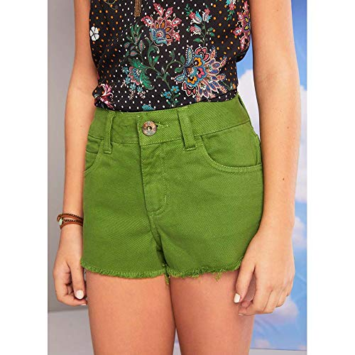 Short Sarja High Verde Escuro P