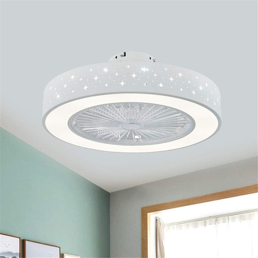 MAZ Ventilador de Techo con Luz Estrella Circular Estilo Moderno 21.5