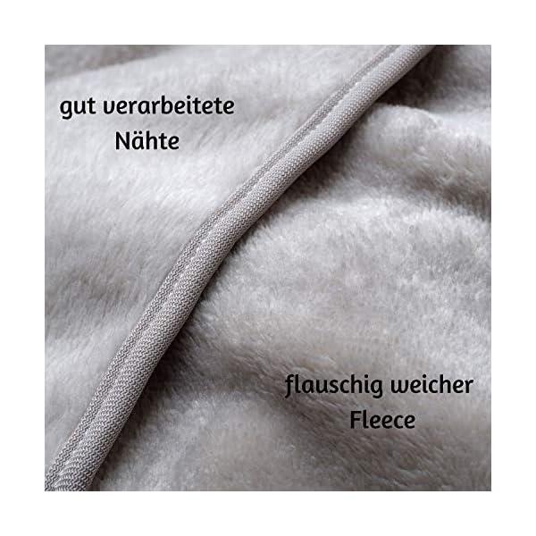 51bN%2BO 2qLL ALTERA LA VITA Reise-Decke, Kuscheldecke aus Fleece - warm und weich - gut komprimierbar mit Tasche - 150x130 cm - für…